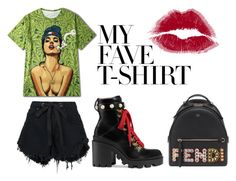 """""""Psychedelic Friday Night"""" by ireneiraghc on Polyvore featuring Nobody Denim, Gucci, Fendi and MyFaveTshirt"""