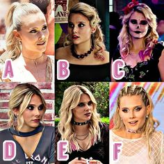 Which hairstyle do you like most? Que peinado te gusta mas? Welche Frisur gefällt euch am besten? Disney Channel, Ambre Smith, Keratin, Son Luna, Dove Cameron, Hat Hairstyles, Sabrina Carpenter, American Actress, Rock And Roll