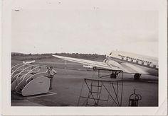 Antique Photograph Trans World Airlines Plane Scranton-Wilkes Barre Airport PA