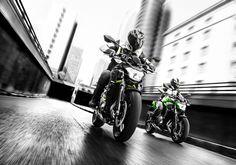 """Z650 2018 revine si seteaza etalonul pentru clasa medie de """"naked-uri"""". Motorul compact de 650 cmc, in 2 cilindri si 8 valve, racit cu lichid, permite rider-ului sa se bucure de performante extraordinare in conditii de maxima siguranta. Proiectat sa detina suprematia pe segmentul """"naked"""", Z650 devine astfel o motocicleta care va atrage cu siguranta toate privirile. Kawasaki Z650, Motorcycle, Verses, Pictures, Motorcycles, Motorbikes, Choppers"""