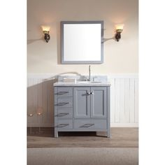 ARIEL Cambridge 43-inch Single Sink Grey Vanity Set - 18034490 - Overstock.com Shopping - Great Deals on Ariel Bathroom Vanities