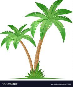 Coconut Tree Illustration Vector New Ideas Coconut Tree Drawing, Palm Tree Drawing, Bee Coloring Pages, Palm Tree Vector, Coconut Palm Tree, Tree Illustration, Graduation Party Decor, Mosaic Patterns, Palm Trees