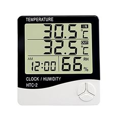 Large Display Digital Temperature Humidity Thermometer Home Comfort Monitor Indoor Outdoor Meter with Alarm Clock Black >>> To view further for this item, visit the image link. (This is an Amazon Affiliate link and I receive a commission for the sales)