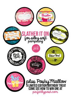 Try one of our 10 {slathers} and lay on the thick nourishing goodness. Your skin will thank you. Choose from cocoa butter, shea butter, babassu butter, mango butter, and olive oil butter.  Which butter is your favorite? Pick one (or several) @ perfectlyposh.com