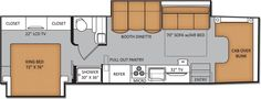 New Thor Chateau 35SK Diesel Super C RVs...I love the floor plan, but it is 36 ft long.  The Four Winds floor plan is the same.