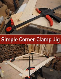 How to make a super simple jig to clamp and align the corners during the glue up process. #diytools #workshopprojects