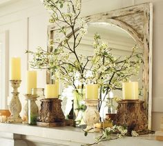 Beautiful Spring Decor Ideas from the Stunning Kathy Woodard at TheBudgetDecorator. I Love her stuff!