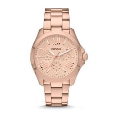 Cecile Multifunction Stainless Steel Watch - Rose New   Fossil