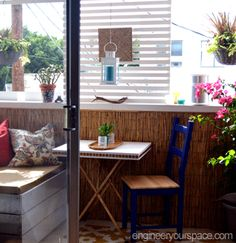 Balcony makeover video: how to make DIY lattice privacy/shade ...