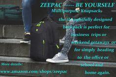 "Go Tour Stylish Business Laptop Backpack Water Resistance Travel Bag Knapsack Fits up to 16"" Laptop Macbook Computer Backpack-Black"