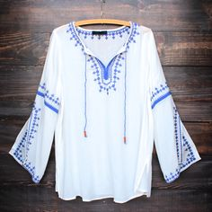 paper hearts | shophearts.com maldives free spirited front tie embroidered tunic – shop hearts