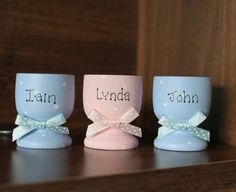Personalised wooden egg cup with your own name by scratchycat