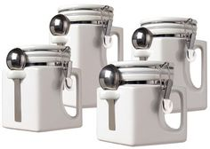 Food & Kitchen Storage Flight Tracker 4pc Bread Bin Set Tea Coffee Sugar Jar Kitchen Stainless Steel Canisters New Good Companions For Children As Well As Adults