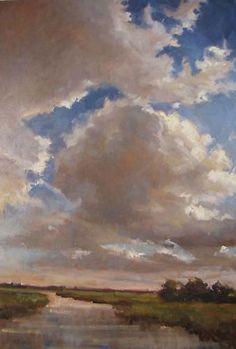 "Barbara Binford Davis Light Source 30""x20"" oil on canvas"