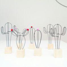 Petit cactus décoratif en fil de fer, choisissez votre modèle : Accessoires de maison par 123ptitspois