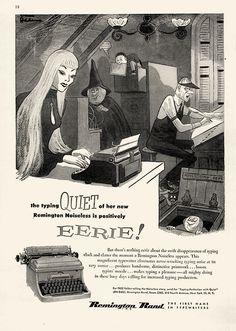 Vintage Halloween Ad - Remington Rand