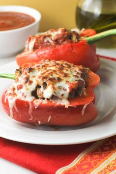 Clean Eating Healthy Ground Turkey Quinoa Stuffed Peppers. #quinoa, Peppers, #cleaneating