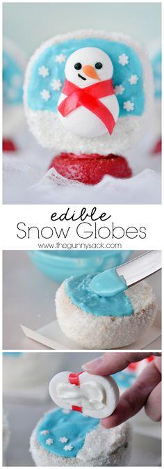 The edible Snow Globes CUTEST Christmas treats ever!