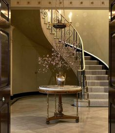 New York's Most Exceptional Apartment Buildings - The Glam Pad Hallway Decorating, Interior Decorating, Interior Design, Interior Architecture, Building Stairs, English Country Style, New York City Apartment, Entry Foyer, Entrance Hall