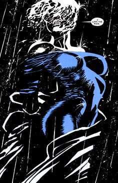 Image from Sin City - Sex and Violence by Frank Miller. Dramatic lighting colours, strong lines, femme fatale, film noir feel. Frank Miller Sin City, Frank Miller Art, Comic Book Artists, Comic Artist, Comic Books Art, Sin City Comic, Jordi Bernet, Bd Comics, Pulp Art