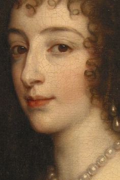 """Queen Henrietta Maria, wife of King Charles I"""", sir Anthony van Dyck (c. Basic Painting, Woman Painting, Painting & Drawing, Anthony Van Dyck, Sir Anthony, Original Paintings For Sale, Great Paintings, Roi Charles, King Charles"""