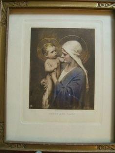 Nice Vintage C. Bosseron Chambers Print of Jesus and Mary (12/09/2012)