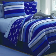Shark Bedding is a Cozy Option Year Round!   Community Post: 21 Ways To Prep Your Home And Family For Shark Week