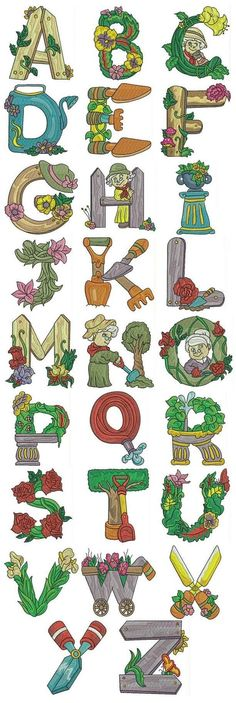 Alfabeto Jardin