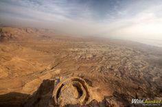 Sunrise Over the Masada Desert Fortress, #Israel
