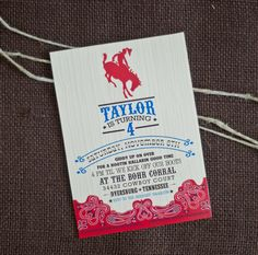 Cowboy Invite Wording Birthday Party Cowgirl Boy Parties Rodeo