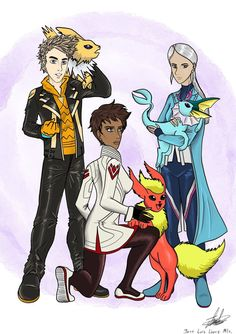 Spark, Candela and Blanche by chelopez