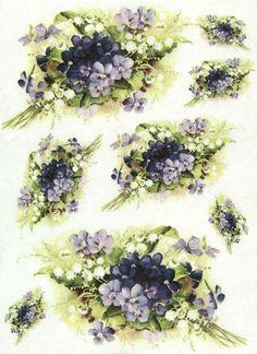 Rice Paper for Decoupage, Scrapbook Sheet, Craft Paper Fragrant Bouquet