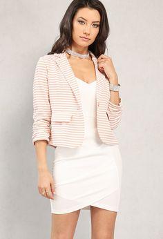 Single-Buttoned Stripe Blazer