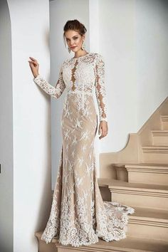 Best Wedding Dresses With Sleeves Gorgeous Wedding Dress, Best Wedding Dresses, Beautiful Gowns, Day Dresses, Evening Dresses, Formal Dresses, Straps Prom Dresses, Dresses With Sleeves, Vestidos Color Blanco