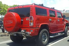 Nice Hummer!  #protecautocare #engineflush #carrepair #hummer #h2 #sport #utility #vehicle #red #custom #customized #v8 #chrome #summer #fun #nofilter #followus