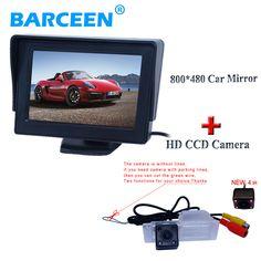 "Use for Chevrolet Cruze Hatchback  car reversing system bring lcd display 4.3""car screen monito + hd 4 ir car reversing camera"