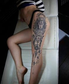 Full leg tattoo                                                                                                                                                                                 More