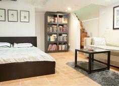 Basement studio bedroom