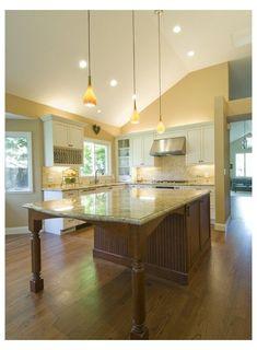 Granite Kitchen, Wooden Kitchen, Kitchen Redo, Kitchen Remodel, Kitchen Layout, Kitchen Ideas, Kitchen Backsplash, Space Kitchen, Granite Countertop