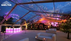 Wedding Marquee With Clear Roof Host 500 Seaters