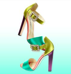 Brian Atwood Resort 2015 Multicolor Sandals