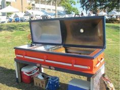Creepy casket grill!