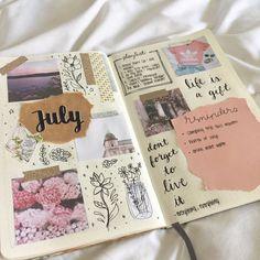 i feel like my journal is half bujo. Bullet Journal Inspo, Bullet Journal Notebook, Bullet Journal Aesthetic, Bullet Journal Ideas Pages, My Journal, Journal Pages, Journal Layout, Bullet Journals, Summer Journal
