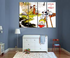 Calvin and Hobbes Comic Poster Laminated - Cole's room