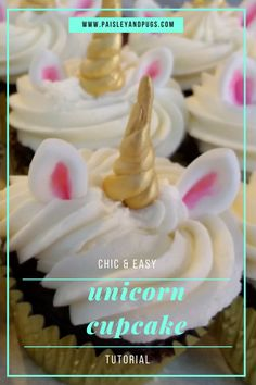 Easy to make unicorn cupcakes. Turned out perfect. Great Instructions. Love this blog's tutorials!