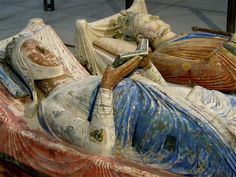 Tomb of Henry II and Eleanor of Aquitaine, Fontevraud Abbey, France.