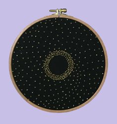 Black Hole - HoopArt / Beading, Embroidery, Modern Craft, Gift, Life / Design By Nephilim by NephilimShop on Etsy