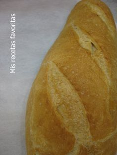 Mis recetas favoritas: Pan campesino
