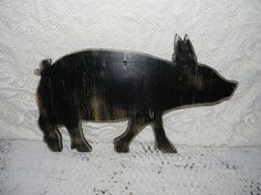 Pig Silhouette Sign Wall Decor Farmhouse Chic by hensnesttreasures, $22.00