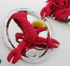 Felt food Lobster, Traditional Lobster Boil play food dinner, Live Maine Lobster play food. $19.95, via Etsy.
